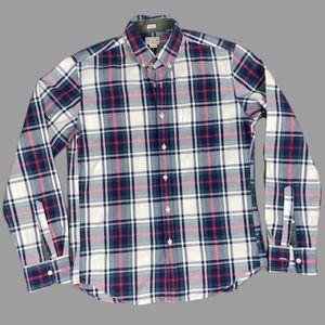 J.Crew Slim Fit Holiday Plaid Button Down Shirt M